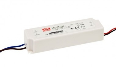Mean Well Constant Current IP67 LPC-35 34W 24V LED Driver