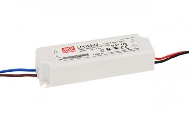Mean Well Constant Voltage IP67 LPV-20 20W 12V LED Driver