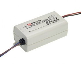 Mean Well Non-Dimmable Constant Voltage IP42 APV-12 12W 24V LED Driver