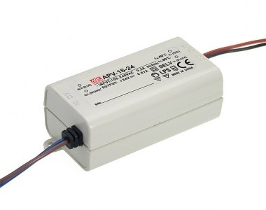 Mean Well Non-Dimmable Constant Voltage IP42 APV-16 16W 24V LED Driver