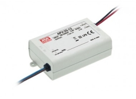 Mean Well Non-Dimmable Constant Voltage IP42 APV-25 25W 15V LED Driver