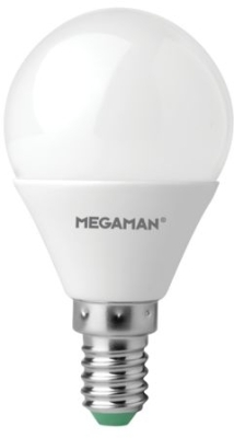 Megaman 5W Dimmable Opal Golf Ball E14 Warm White (45W Equivalent)
