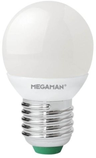 Megaman 5W Dimmable Opal Golf Ball LED E27 Warm White (45W Equivalent)