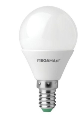 Megaman 5W E14 Dimmable Opal Golfball Bulb Cool White (45W Equivalent)