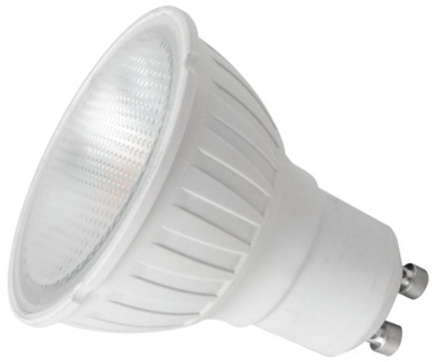 This is a 5.5W GU10 Reflector/Spotlight bulb that produces a Warm White (830) light which can be used in domestic and commercial applications