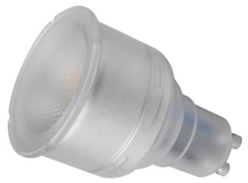This is a 5W GU10 Reflector/Spotlight bulb that produces a Warm White (830) light which can be used in domestic and commercial applications