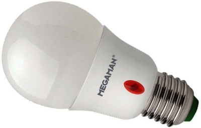 Megaman Economy LED Opal Classic Sensor 8W ES Warm White (60 Watt Alternative)