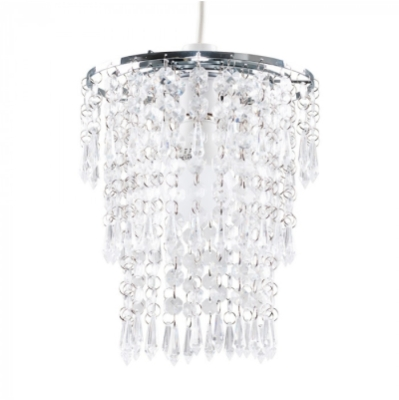 MiniSun 3 Tier Acrylic Droplet Non Electric Pendant Clear