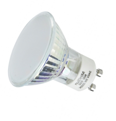 MiniSun Budget 3W SMD LED GU10 Daylight Glass Bodied Bulb