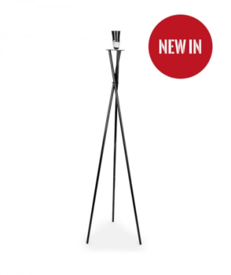 MiniSun Camden Tripod Floor Lamp Satin Nickel Painted (BASE ONLY)