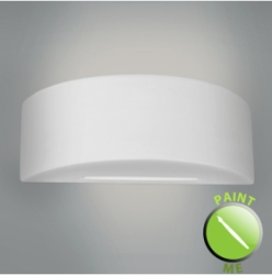 MiniSun Curved Ceramic Paint Me Wall Light Fitting