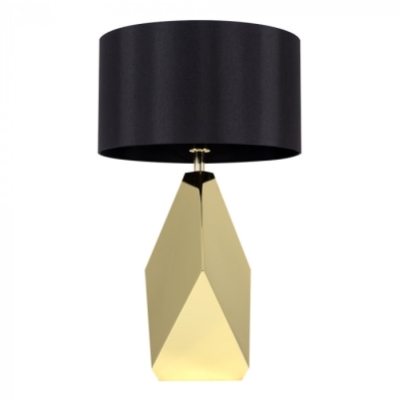 MiniSun Iconic Latrobe Large Brass Metal Table Lamp With Drum Shade