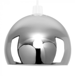 MiniSun Mini Arco Metal Non Electric Pendant Shade Chrome