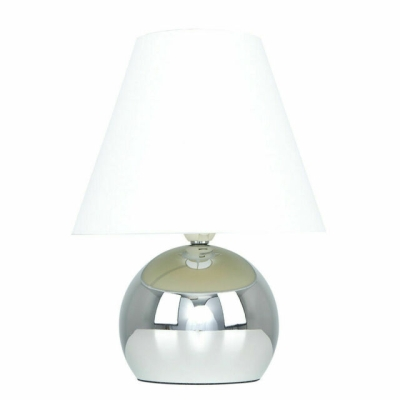 MiniSun Mojo Chrome Touch Table Lamp with Cream Shade
