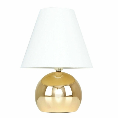 MiniSun Mojo Gold Touch Table Lamp with Cream Shade