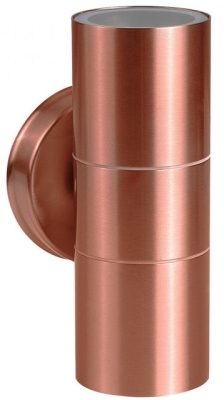 MiniSun Outdoor Up Down Wall Light IP44 50W GU10 (Copper)