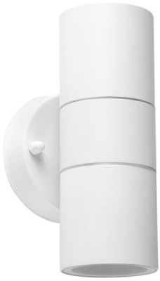 MiniSun Outdoor Up Down Wall Light IP44 50W GU10 (White)
