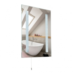 MiniSun Pacific IP44 Medium 6500K Battery Operated LED Bathroom Mirror Light