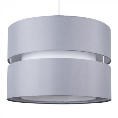 MiniSun Sophia Large Grey & White Non Electric Pendant Shade