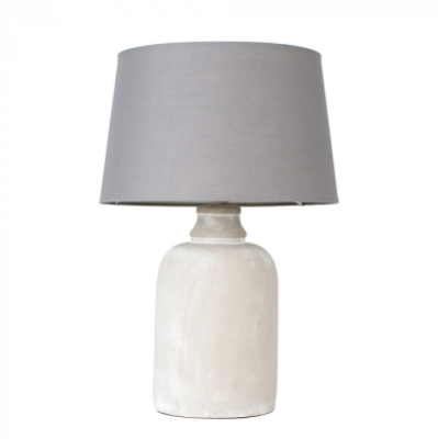MiniSun Taite Cement Base Table Lamp with Shade