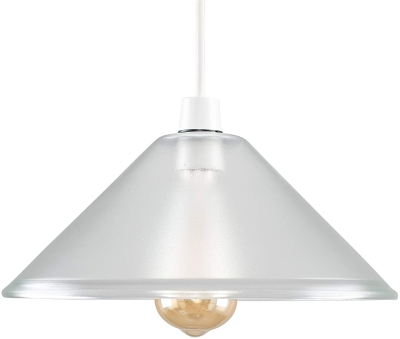 MiniSun Tapered Dome Clear Pendant Glass Shade