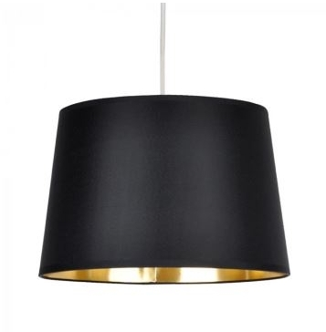 MiniSun Tapered Non Electric Pendant Shade Black With Gold Metallic Inner