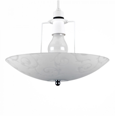 MiniSun White Forbes Scroll Uplighter Non Electric Glass Pendant