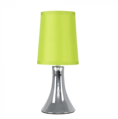 Minisun Trumpet Touch Table Lamp Chrome with Green Shade