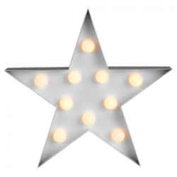 Minisun White Star Shape Battery Operated 10 LED Light