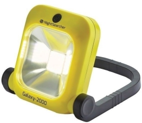 NightSearcher Galaxy 2000 Lightweight Rechargeable LED Floodlight IP54 + 230V AC and Vehicle Charger
