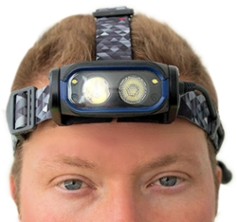 NightSearcher HT800RX USB Rechargeable Proximity Distance Dimming Head Torch