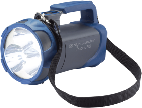 NightSearcher Trio 550 Rechargeable LED Searchlight in Grey and Blue