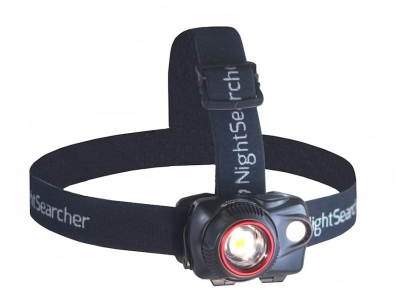 NightSearcher Zoom580 Spot-to-Flood Zoom 3xAAA LED Head Torch