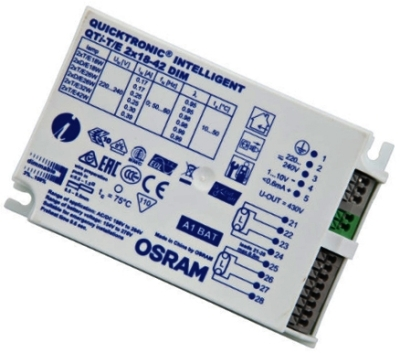 Osram 18-42 Watt Quicktronic 1-10 Volt Dimmable Twin Ballast
