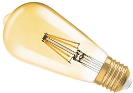 Osram Parathom Pro 7W Dimmable LED Filament Squirrel Cage (50W) Very Warm White - Gold