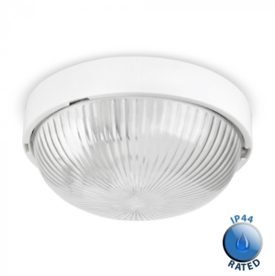 Outdoor IP44 Arnside Bulkhead White/Clear
