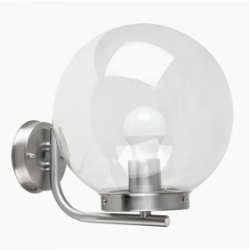 Outdoor IP44 Ashbourne Globe Wall Light Satin Nickel