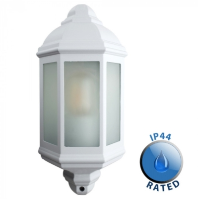 Outdoor IP44 Banbury Wall Flush Mounted Lantern White/Frosted