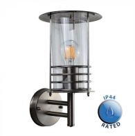 Outdoor IP44 Dorset Wall Lantern Silver