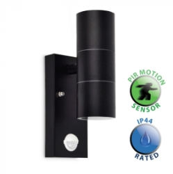 Outdoor IP44 PIR Up/Down Wall Light for GU10 Silver