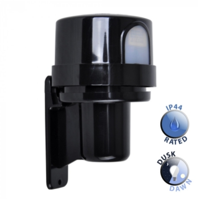 Outdoor IP44 Photocell Sensor Black