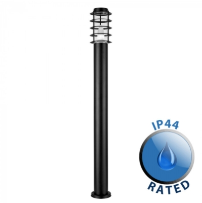 Outdoor IP44 Wharf Bollard 1000mm Black/Frosted
