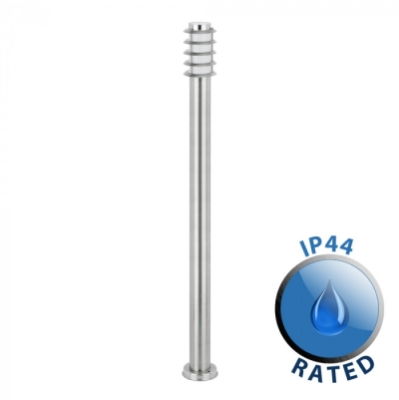 Outdoor IP44 Wharf Bollard 1000mm Stainless Steel/Frosted