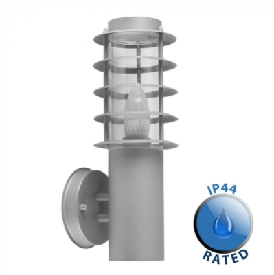 Outdoor IP44 Wharf Wall Lantern Cement/Frosted