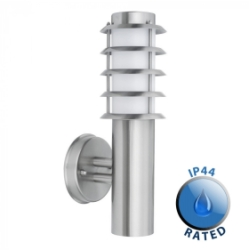 Outdoor IP44 Wharf Wall Lantern Stainless Steel/Frosted