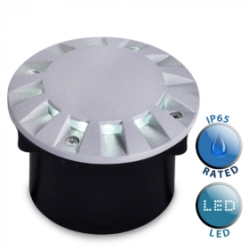 Outdoor IP65 Tocca LED Walkover Decking Light Grey
