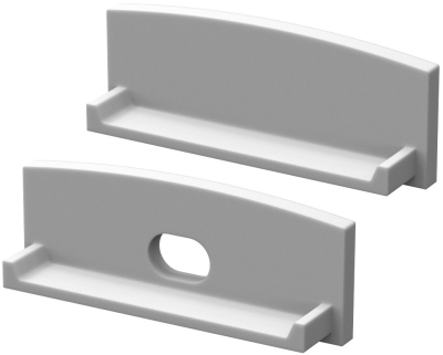 P13 Strip Wide Recessed Profile End Cap Set