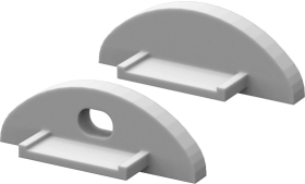 P2 Strip Surface Mounted Profile End Cap Set