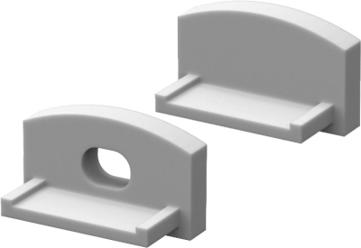 P4 Strip Recessed Profile End Cap Set