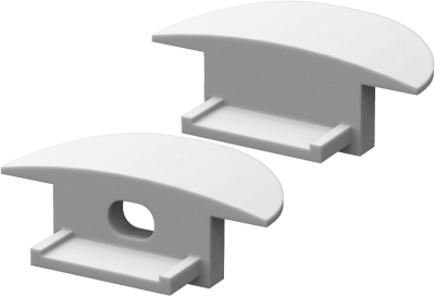 P6 Strip Recessed Profile End Cap Set